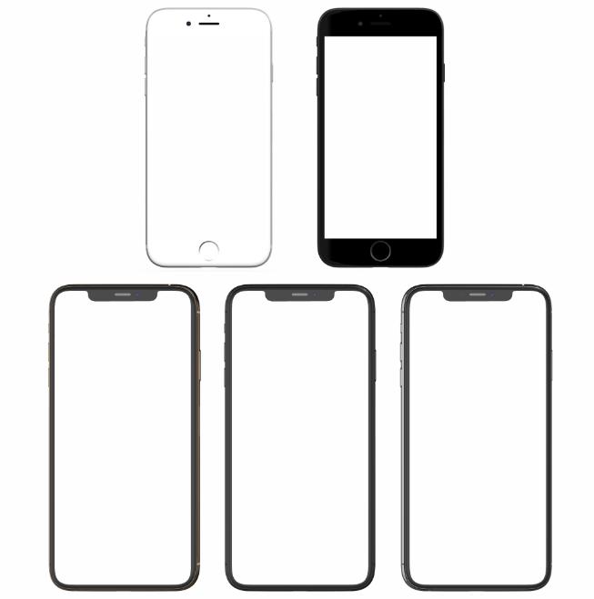 苹果手机模板免抠png透明图层素材