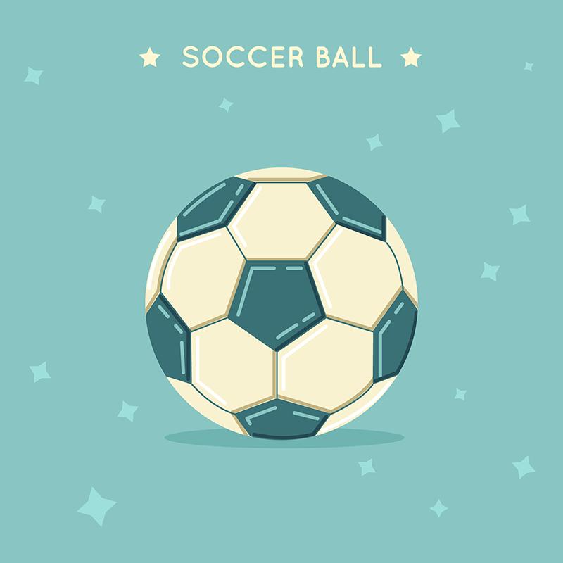 扁平足球背景背景矢量素材下载(EPS+AI)