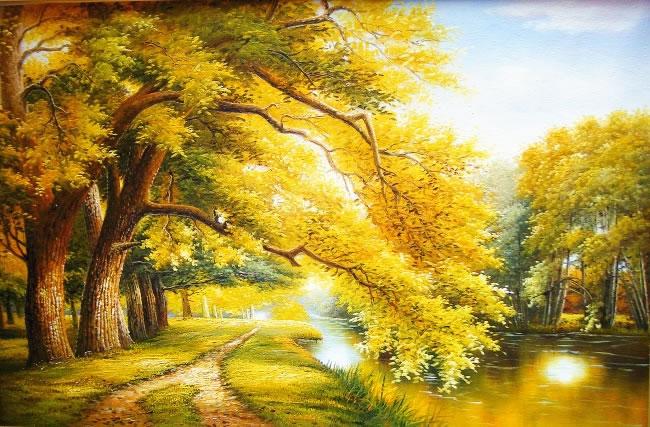 高清風景油畫圖片素材