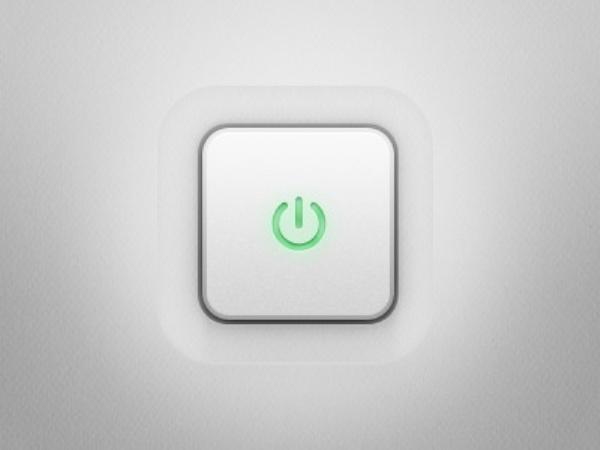 立体电源按钮psd素材