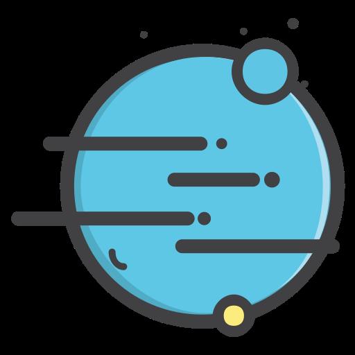 抽象太阳系行星PNG图标