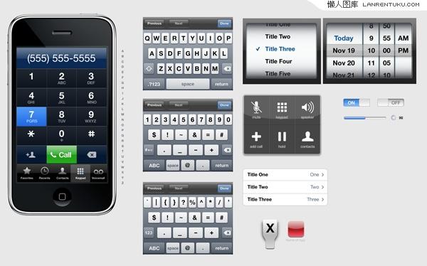 又一款iphone的UI界面PSD分层素材