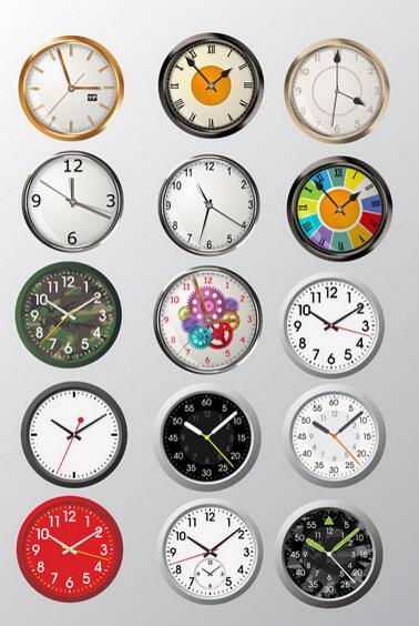 15个彩色的生活时钟元素