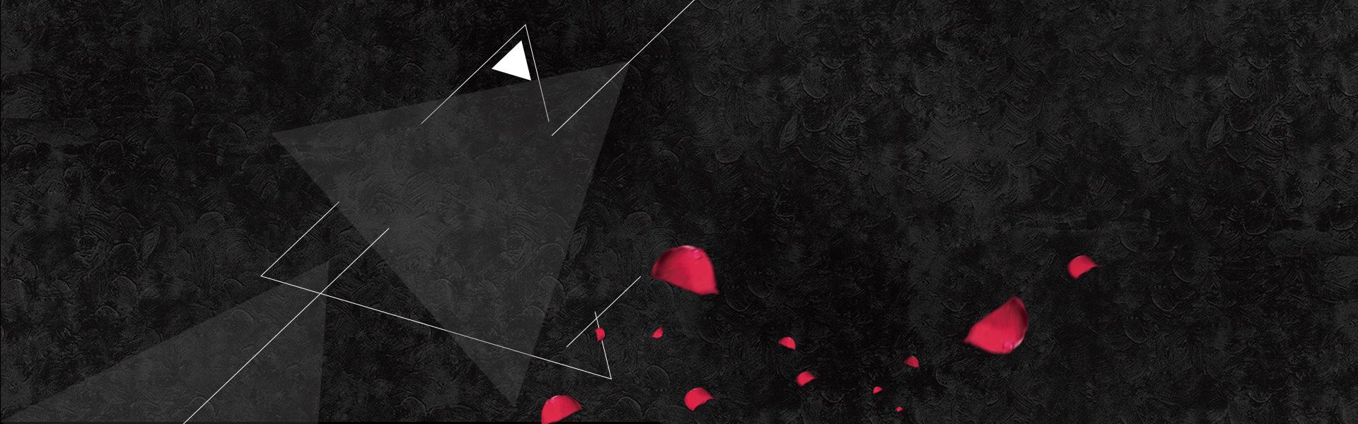 黑色玫瑰花瓣banner