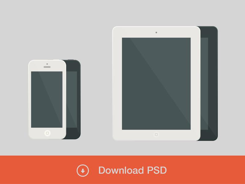 苹果iphone和ipad素白模板PSD素材