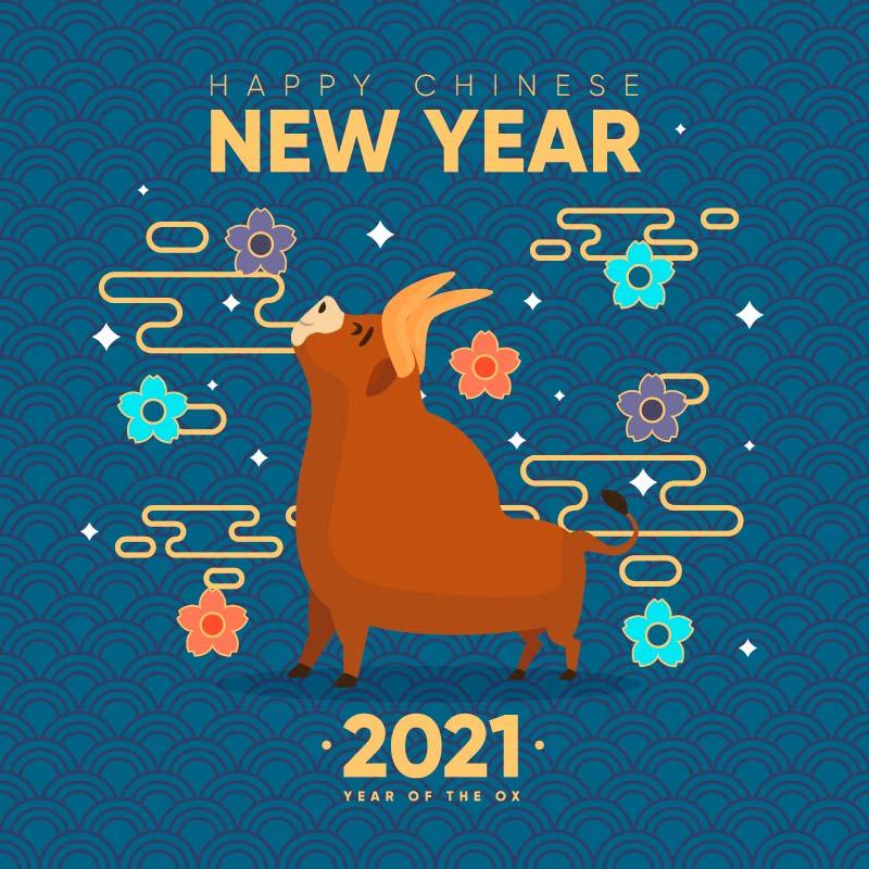 2021春节快乐矢量素材(AI+EPS)