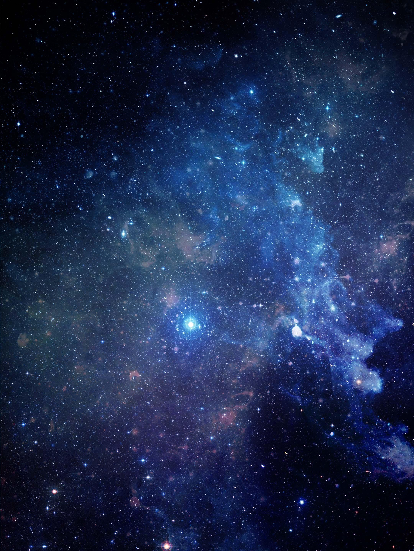 蓝色科幻星空背景高清图片