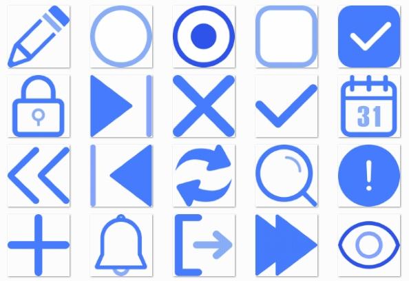基础单色ico图标素材