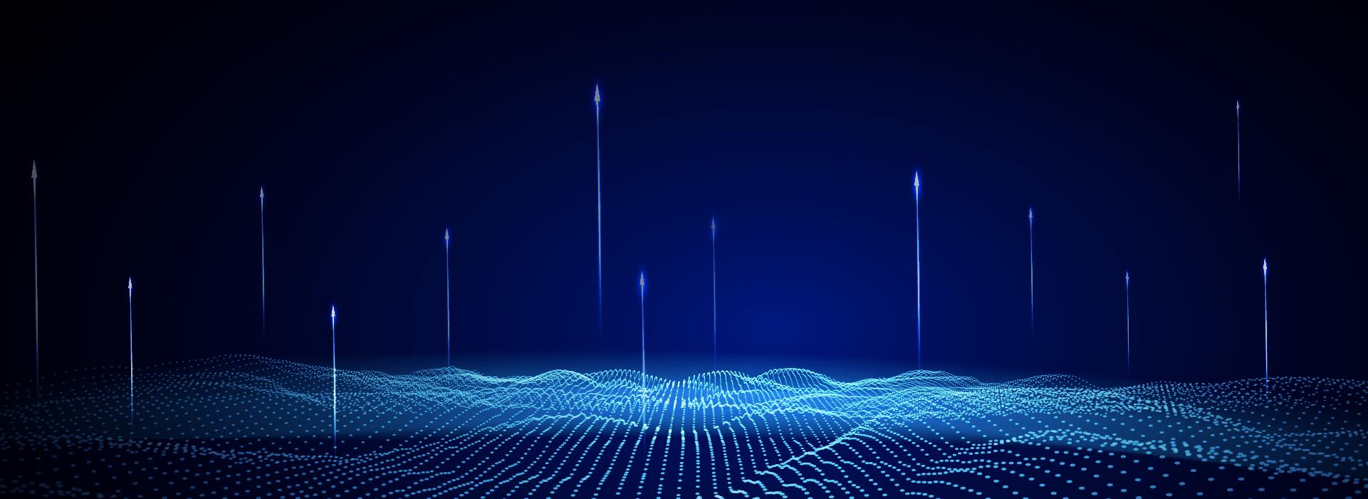 科技网点底纹流动颗粒背景高清图片
