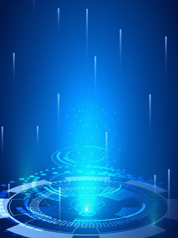 蓝色科技背景高清图片